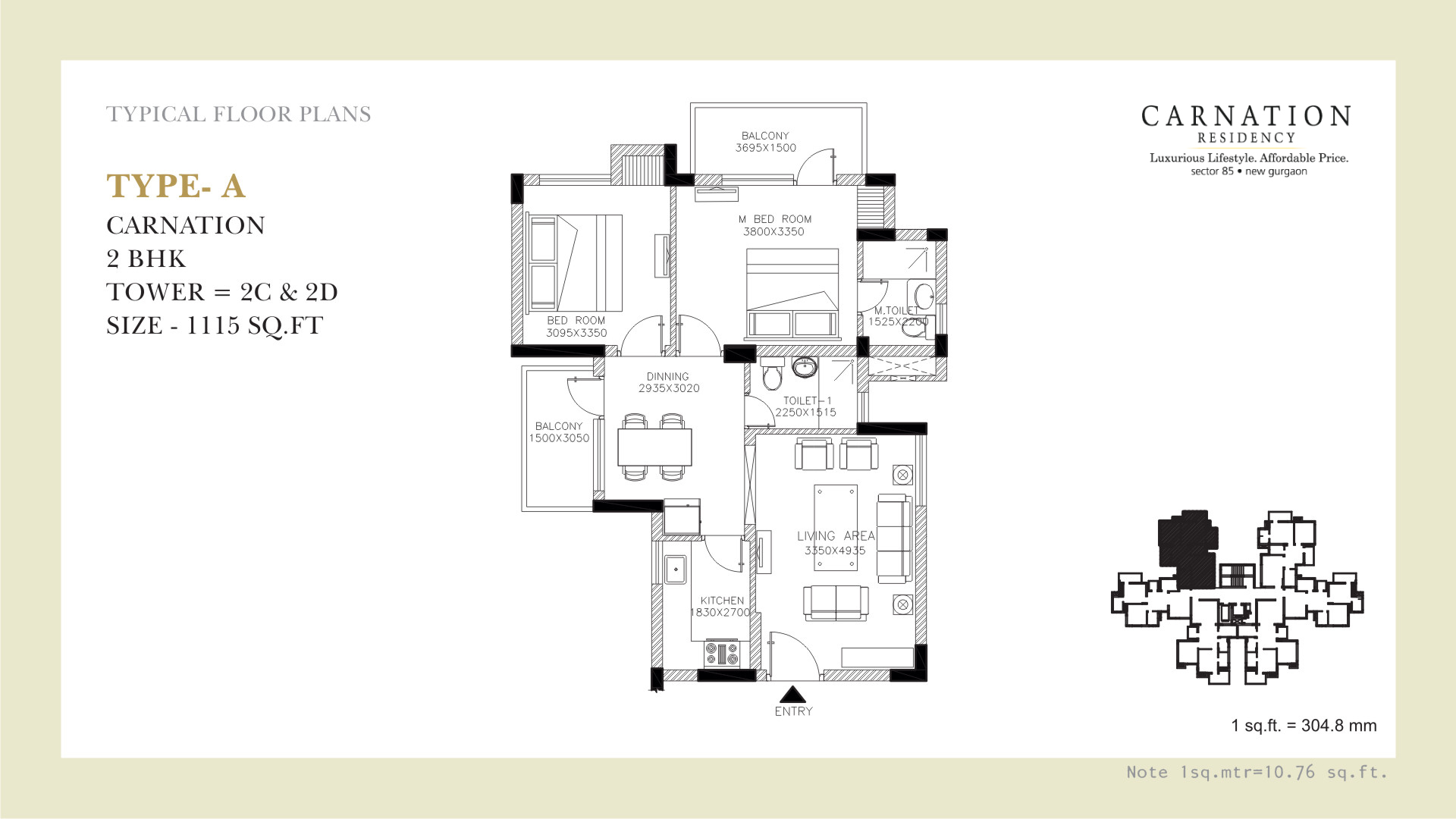 Carnation Floor Plan